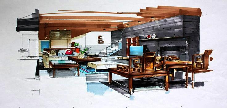 iç mimar özel yetenek çizimleri (5)