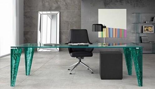 Modern Ofis Mobilyaları,Modern Ofis Masaları -Cam Masa