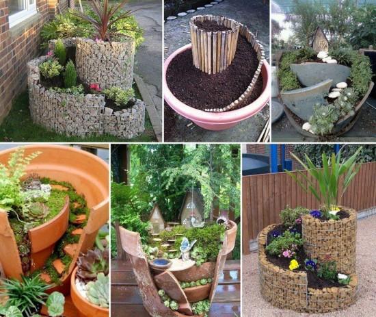 30 Unique Garden Design Ideas: Bahçelerin Güzelliğini Arttıran İlginç Saksı Dekorları