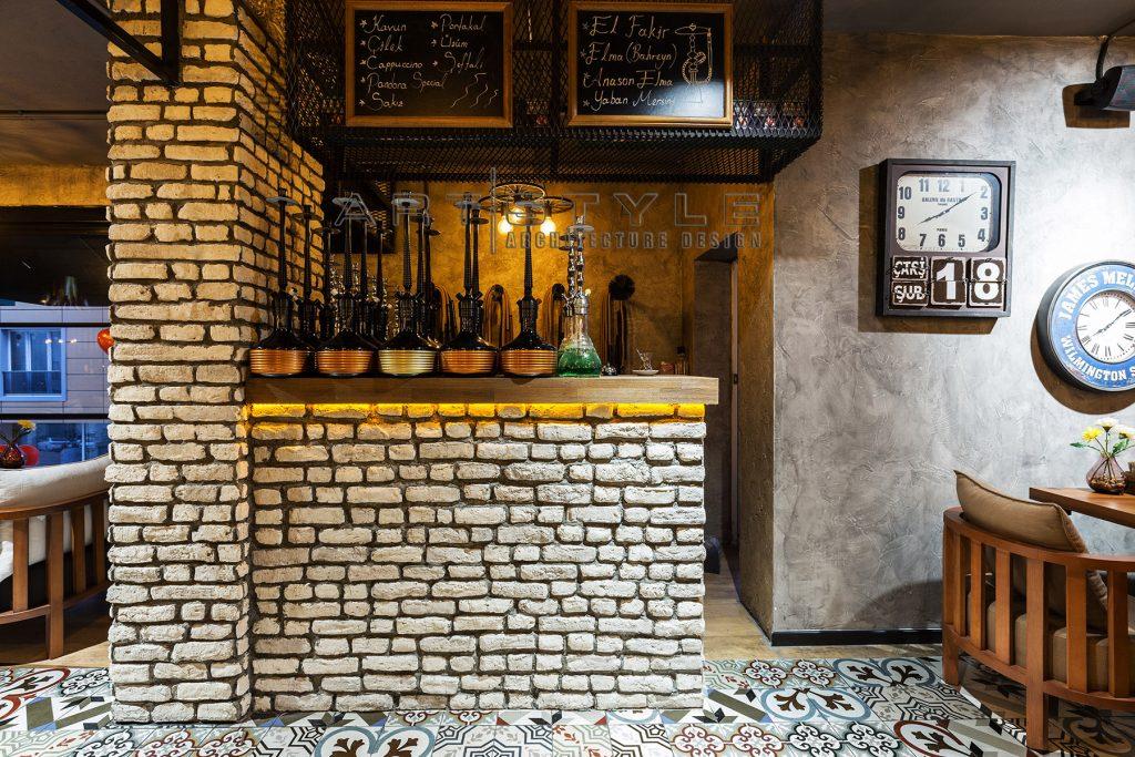 Pandora Cafe Restaurant Dekorasyon, cafe dekorasyon, restaurant dekorasyonları , nargile cafe dekorasyon, Artstyle Mimarlık