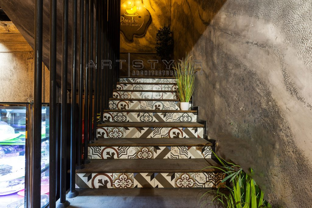 Pandora Cafe Restaurant Dekorasyon, cafe dekorasyon, restaurant dekorasyonları, cafe merdiven, Artstyle Mimarlık