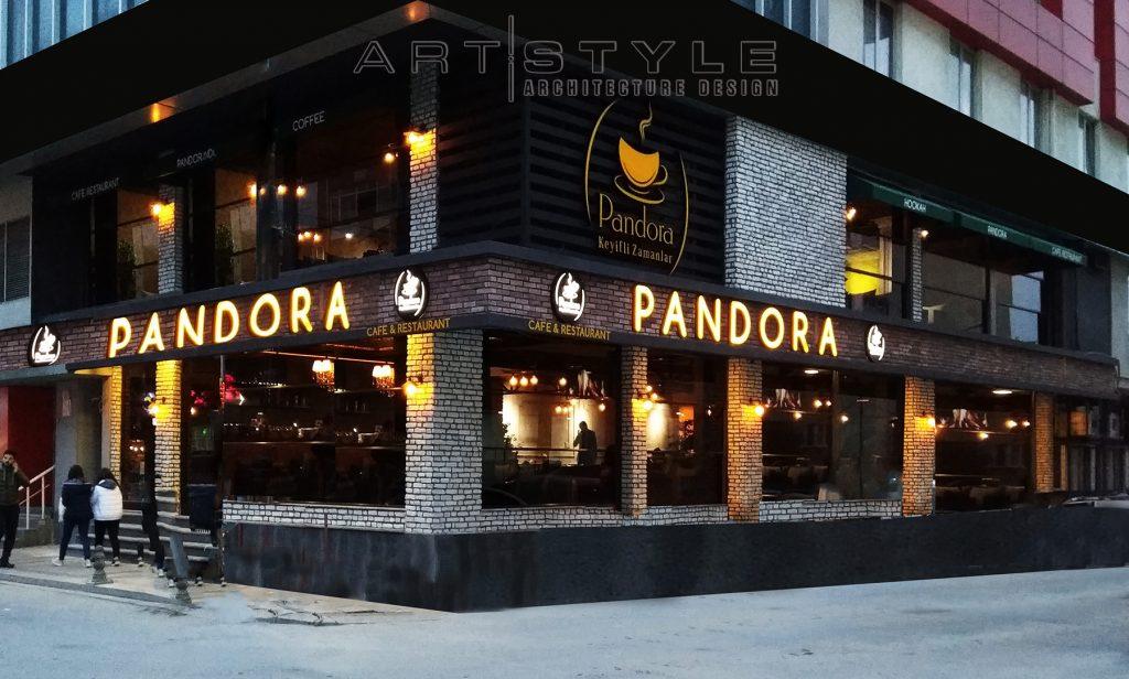 Pandora Cafe Restaurant dekorasyon, cafe dekorasyon, Artstyle Mimarlık